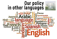 Our policy in other languages
