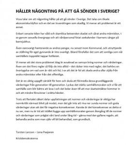 HÅLLER NÅGONTING PÅ ATT GÅ SÖNDER I SVERIGE