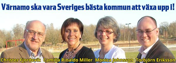 Värnamo ska vara Sveriges bästa kommun att växa upp i! Christer Fjordevik, Camilla Rinaldo Miller, Monica Johnsson, Torbjörn Eriksson.
