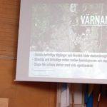 Peter Sjöström sammanfattade ett sätt att tänka kring utevecklingen för Värnamo stad. (Foto: Håkan Johansson)