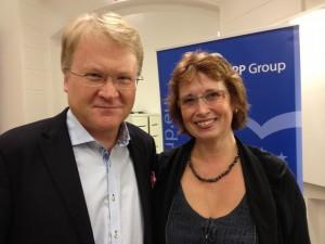Lars Adaktusson soom toppar EU-listan, här tillsammans med Gudrun Brunegård som är Kalmar läns representant på listan