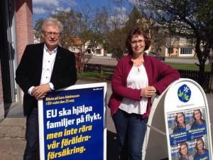 Anders andersson och GudrunBrunegård var i helgen med och sparkade igång EU-valkamanjen i Kalmar län.