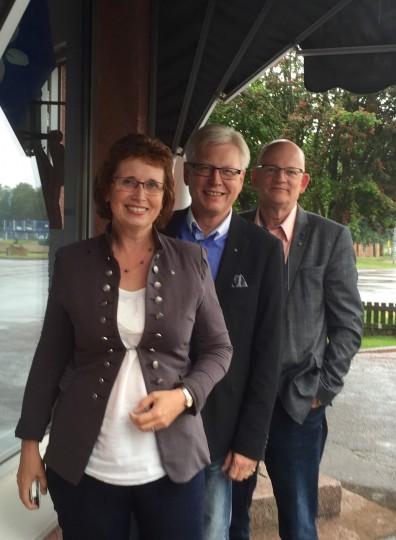Gudrun Brunegård, Anders Andersson och Åke Nilsson vill se en ny mobil hälsocentral