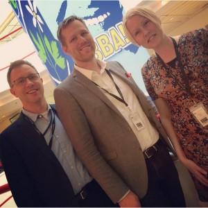 Våra ombud: Per Lindström, Björn-Owe Björk och Synnöve Adéll