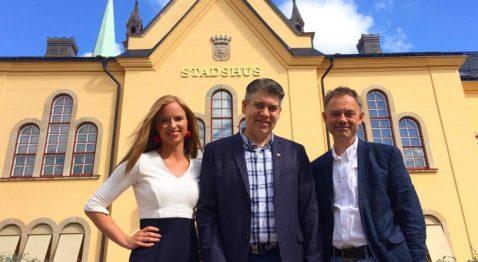 Sara Skyttedal (KD), Niklas Borg (M), Lars Vikinge (C)