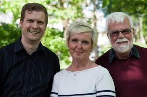 Ljungbys kandidater till Landstingsfullmäktige. Fr.v. Josef Tingbratt, Ann-Charlotte Eriksson och Christer Henriksson