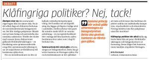 Foto: Skärmdump från MVT.se - 20160919-mvtdebatt-klafingrigapolitiker