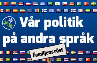 Vår politik på andra språk