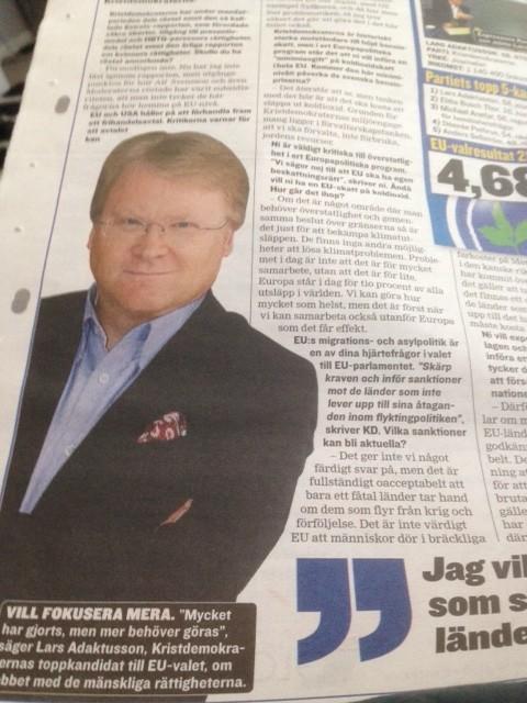 Lars Adaktusson EU-kandidat för Kristdemokraterna