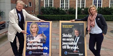 Lars Adaktusson och Ebba Busch Thor toppar Kristdemokraternas lista till EU valet