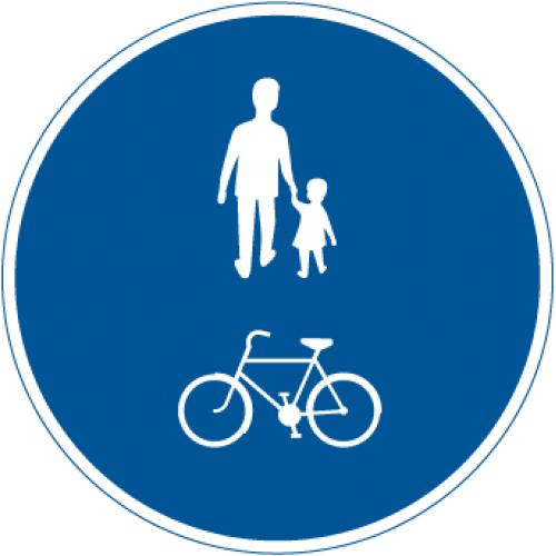 Vägmärke för gång- och cykelbana.