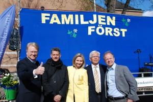 Ett bra team för KD; Lars Adaktusson, Marcus Birro, Ebba Busch Thor, Alf Svensson, Mikael Oscarsson.