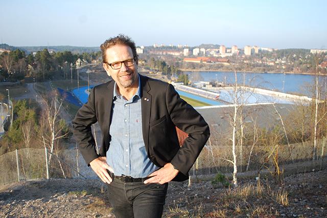 Magnus Ramstrand (KD) vid Sollentunavallen.