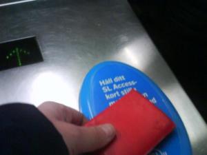 Avläsare för SL:s access-kort.