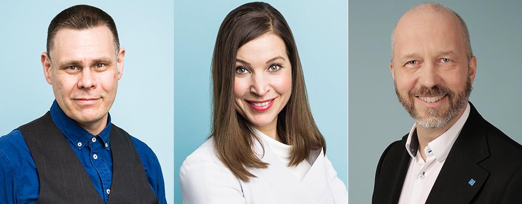 Fredrik Wallén, Ella Bohlin, Karl Henriksson. Klicka på bilden för att se mer om våra kandidater till Stockholms läns landsting 2018.