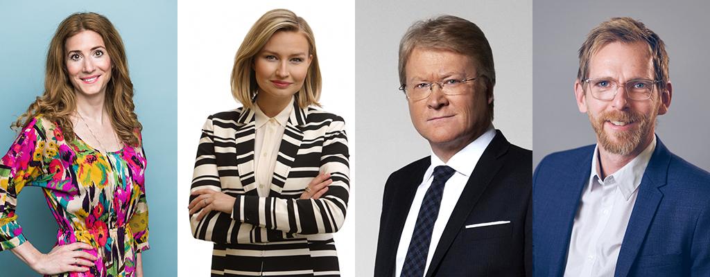 Caroline Szyber, Ebba Busch Thor, Lars Adaktusson, Jakob Forssmed. Klicka på bilden för att se mer om våra kandidater till riksdagen 2018.