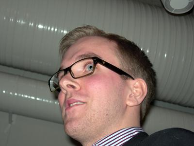 Andreas Carlson från Mullsjö var gästtalare på årsmötet. (Foto: Håkan Johansson)