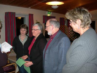 Monica Johnsson, Lena Freij, Christer Fjordevik och Margareta Lindahl. (Foto: Håkan Johansson)