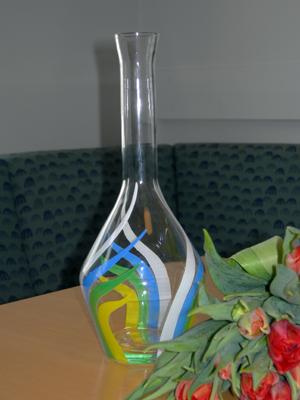 Vitsippspriset, en formskönt designad vas i kristall. (Foto: Håkan Johansson)