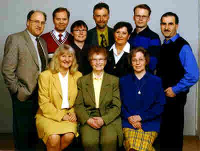 Kristdemokraternas toppkandidater i kommunfullmäktigevalet den 20 september 1998. (Foto: Fotograf Mäster Olof)