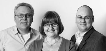 Kristdemokraternas toppkandidater i landstingsvalet: Arnold Carlzon, Marianne Andersson och Torbjörn Eriksson. (Foto: Frida fotograf)