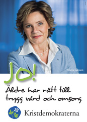 JO! Äldre har rätt till trygg vård och omsorg. Maria Larsson. Kristdemokraterna