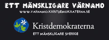 Ett mänskligare Värnamo. www.varnamo.kristdemokraterna.se. Kristdemokraterna ett mänskligare Sverige.