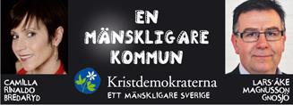 Camilla Rinaldo, Bredaryd. En mänskligare kommun. Lars-Åke Magnusson, Gnosjö.