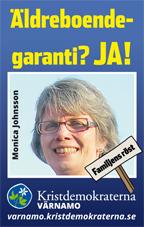 Äldreboendegaranti? Ja! Monica Johnsson. Familjens röst. Kristdemokraterna Värnamo. varnamo.kristdemokraterna.se