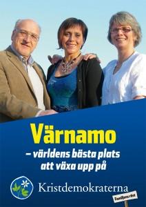 Valmanifest. Värnamo - världens bästa plats att växa upp på. Kristdemokraterna. Familjens röst.