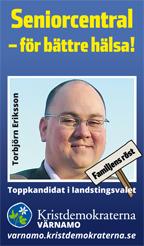 Seniorcentral - för bättre hälsa! Torbjörn Eriksson. Toppkandidat i landstingsvalet. Kristdemokraterna Värnamo. Familjens röst. varnamo.kristdemokraterna.se