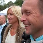 Marie och Patrik Ekwall hade hjärtligt roligt. (Foto: Håkan Johansson)
