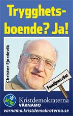 Trygghetsboende? Ja! Christer Fjordevik. Familjens röst. Kristdemokraterna Värnamo. varnamo.kristdemokraterna.se