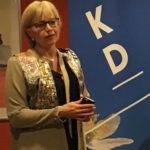 Camilla Rinaldo Miller, Bredaryd, var årets årsmötestalare. (Foto: Arnold Carlzon)