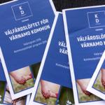 Välfärdslöftet för Värnamo kommun - Kristdemokraternas valprogram 2018. (Foto: Håkan Johansson)