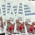 Kristdemokraternas valfolder i Värnamo. (Foto: Håkan Johansson)