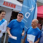 Några av kristdemokraterna i Allianstältet: Xhilda Bushati, Håkan Johansson, Ibrahim Candemir och Stig Claesson. (Foto: Gottlieb Granberg)