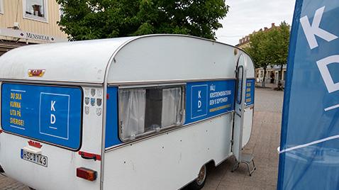 Kristdemokraternas valvagn 2018. (Foto: Håkan Johansson)