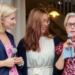 Ebba Busch Thor, Pia Skogsberg och Camilla Rinaldo Miller. (Foto: Håkan Johansson)