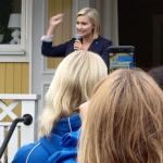 - Min drivkraft i politiken är att alltid sätta människan framför systemet, sade Ebba Busch Thor (KD) i sitt tal. (Foto: Håkan Johansson)