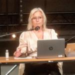 Kommunfullmäktiges ordförande Camilla Rinaldo Miller (KD) höll ihop budgetdebatten väl. (Foto: Håkan Johansson)