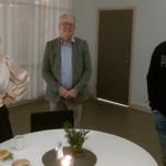 Den kristdemokratiska kommunfullmäktigegruppen var också reducerad. Camilla Rinaldo Miller, Håkan Johansson och Arnold Carlzon. (Foto: Agnes Johansson)