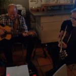 Kjell Svensson och Jörgen Andreasson stod för underhållningen. (Foto: Håkan Johansson)