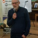 Gunnar Crona, ordförande i partiavdelningen, inleder årsmötet. (Foto: Håkan Johansson)