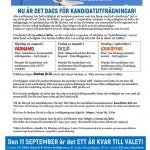 Vitsippan med kandidatutfrågning. Vitsippan med kandidatutfrågning. Medlemsbladet Vitsippan, augusti 2021.