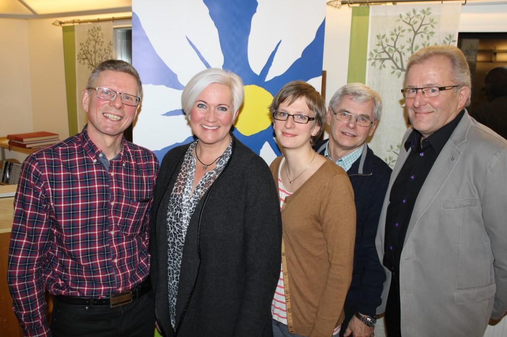 Årsmötet februari 2014 i Pauligården, Myresjö. Partisekreterare Acko Ankarberg är på besök. Här tillsammans med Jan-Erik Josefsson, Madelene Palmgren, Hans Svensson och Ingemar Sturesson